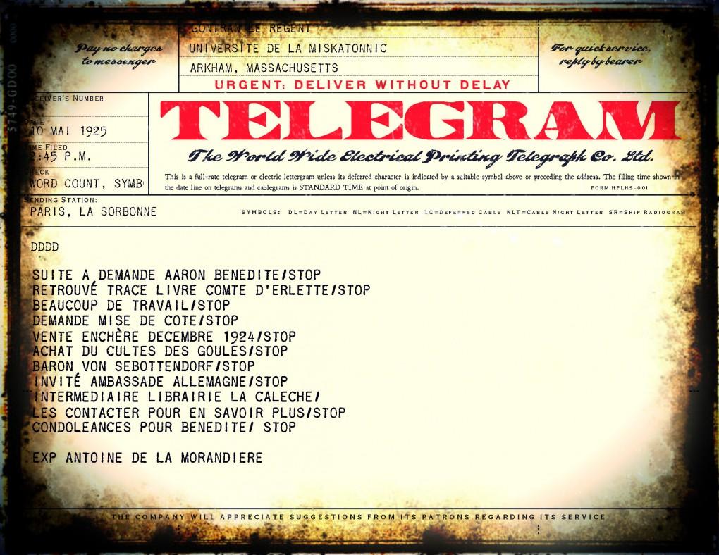 telegramme final